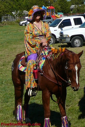 Hippie Costume for Horse and Rider