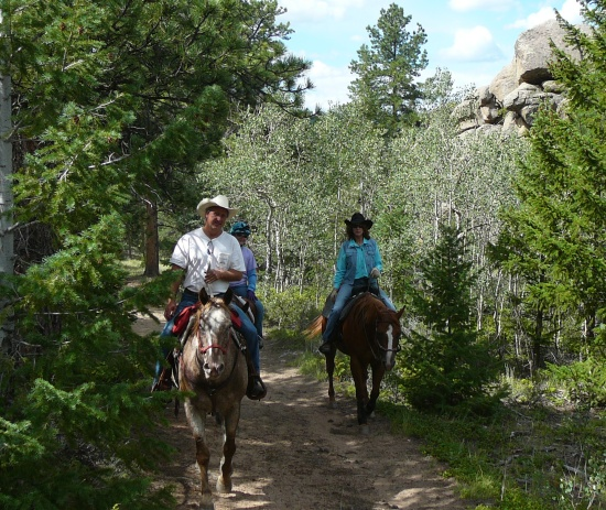 Trail riding in the Colorado Rockies.