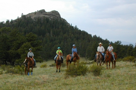 horsebackriding in the mountains