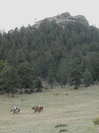 Riding horses with friends in Colorado